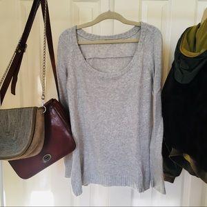 Soft grey wool sweater